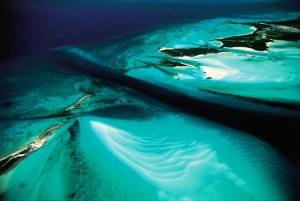 Bahamas. Exuma Cays. Ilots et fonds marins
